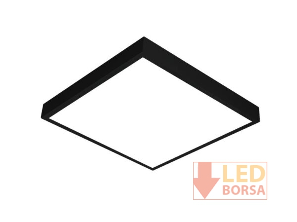 60x60 sıva üstü led panel siyah