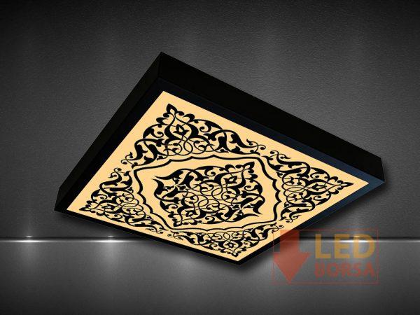 siyah led panel desen uygulaması
