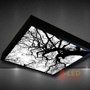 ağaç desenli led panel